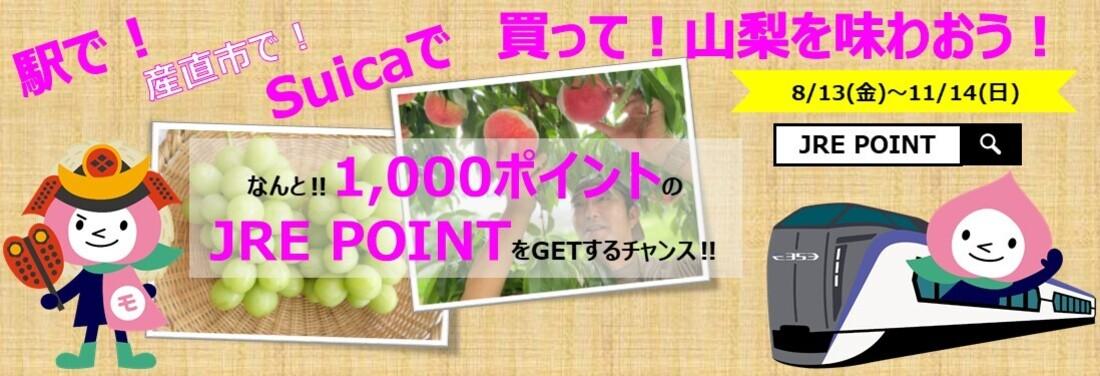 信玄公生誕500年!駅で!産直市で!Suicaで買って!山梨を味わおう!