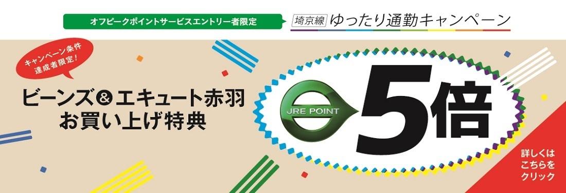 JRE POINT会員限定 埼京線ゆったり通勤キャンペーン
